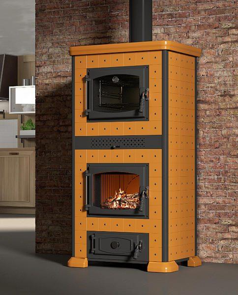 Regina stufa a legna con forno 11kw mille idee casa for Abbattitore fumi forno a legna