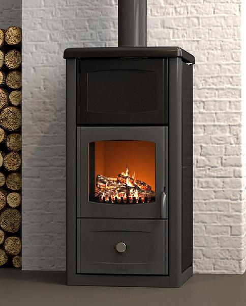 Termo arianna ceramica termo stufa a legna 15kw mille idee casa - Stufa a legna acqua calda ...